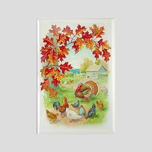 Thanksgiving Farm Design Rectangle Magnet