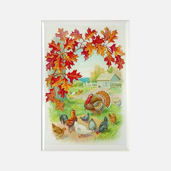 Thanksgiving Farm Design Rectangle Magnet