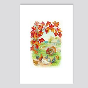 Thanksgiving Farm Design Postcards (Package of 8)