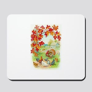 Thanksgiving Farm Design Mousepad
