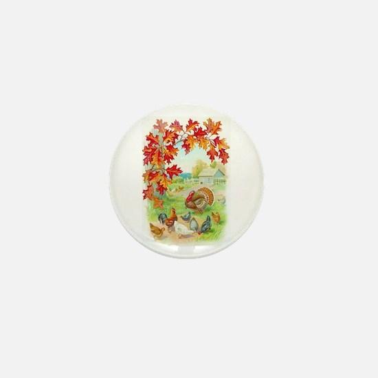Thanksgiving Farm Design Mini Button