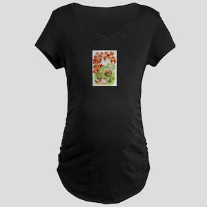 Thanksgiving Farm Design Maternity Dark T-Shirt
