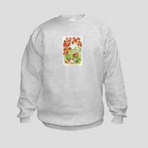 Thanksgiving Farm Design Kids Sweatshirt