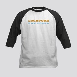 Locavore Eat Local Kids Baseball Jersey