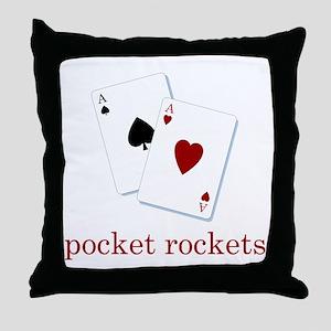 Pocket Rockets - Texas Hold E Throw Pillow