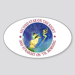 PETER PAN - FAIRY DUST Oval Sticker