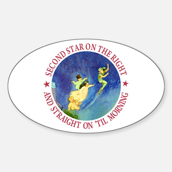 PETER PAN - FAIRY DUST Oval Decal