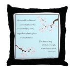 Red Thread Legend (Dogwood) Throw Pillow
