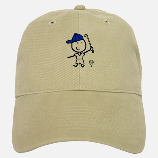 Boy & Golf Baseball Baseball Cap