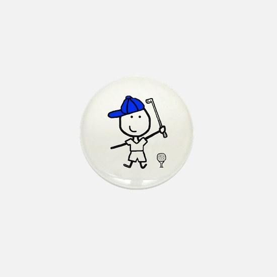 Boy & Golf Mini Button