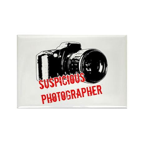 Suspicious Photographer Rectangle Magnet (100 pack
