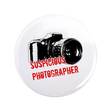 """Suspicious Photographer 3.5"""" Button (100 pack)"""