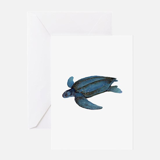 LEATHERBACK Greeting Cards