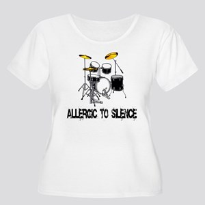 Allergic to silence drummer Women's Plus Size Scoo