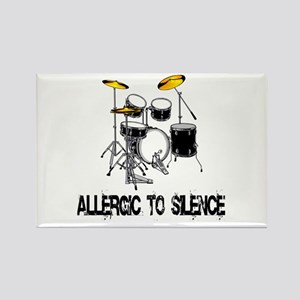 Allergic to silence drummer Rectangle Magnet