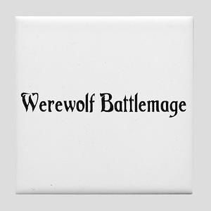 Werewolf Battlemage Tile Coaster