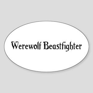 Werewolf Beastfighter Oval Sticker