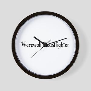 Werewolf Beastfighter Wall Clock