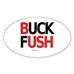 """Buck Fush"" Oval Sticker"