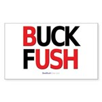 """Buck Fush"" Rect Sticker"