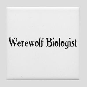 Werewolf Biologist Tile Coaster