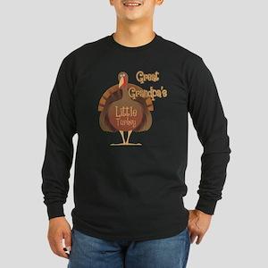 Great Grandpa's Little Turkey Long Sleeve Dark T-S
