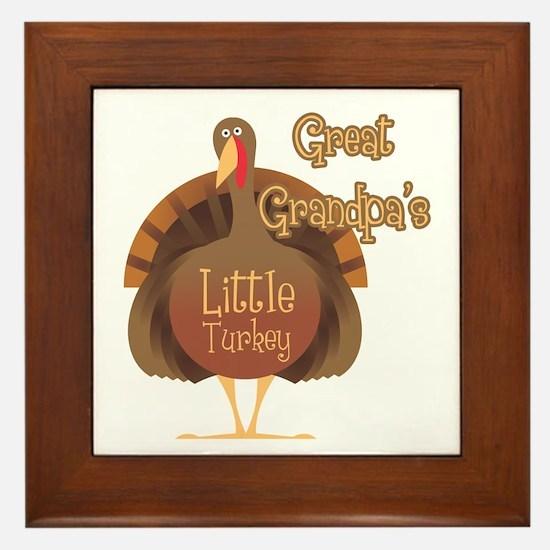 Great Grandpa's Little Turkey Framed Tile