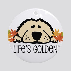 Life's Golden Fall Keepsake (Round)