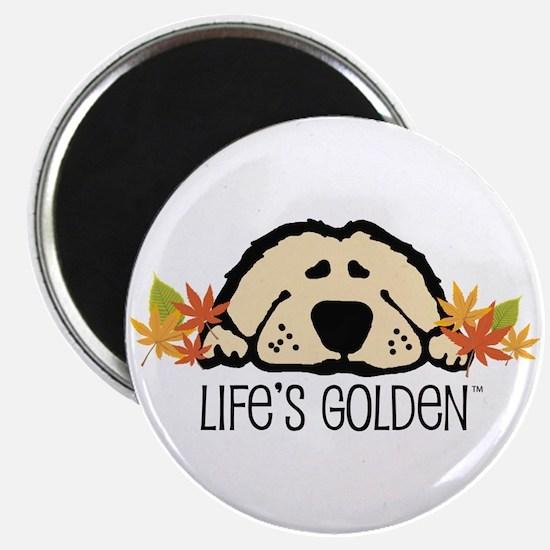 "Life's Golden Fall 2.25"" Magnet (10 pack)"