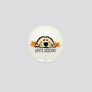 Life's Golden Fall Mini Button