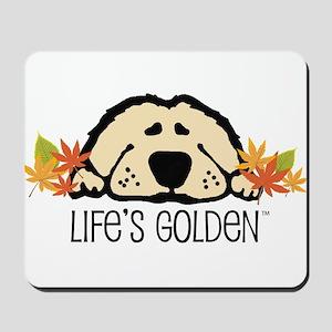 Life's Golden Fall Mousepad