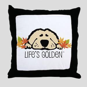 Life's Golden Fall Throw Pillow