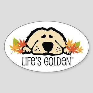 Life's Golden Fall Oval Sticker