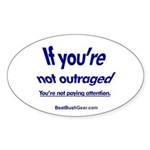 """""""Paying Attention"""" Oval Sticker (10)"""