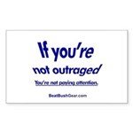 """""""Paying Attention"""" Rect Sticker (10)"""