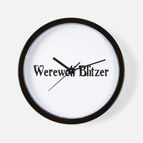 Werewolf Blitzer Wall Clock