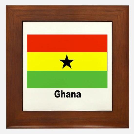 Ghana Flag Framed Tile