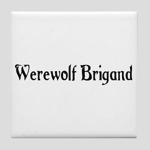 Werewolf Brigand Tile Coaster