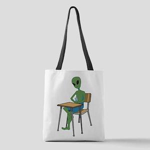 Alien in school Polyester Tote Bag