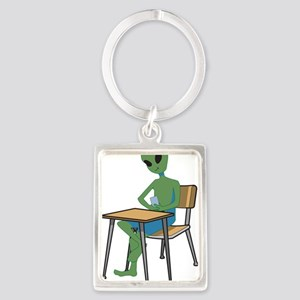 Alien in school Keychains