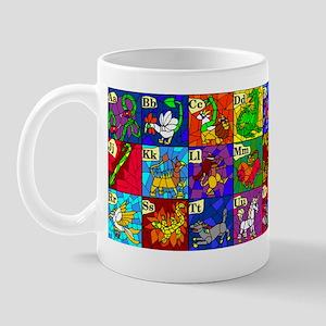 Alphabestiary fantasy alphabet Mug