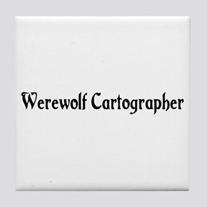 Werewolf Cartographer Tile Coaster