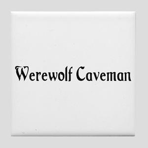 Werewolf Caveman Tile Coaster