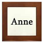 Anne - Personalized Framed Tile