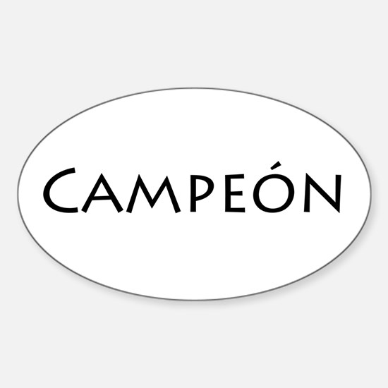 Campeon sticker oval