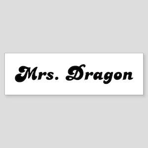 Mrs. Dragon Bumper Sticker
