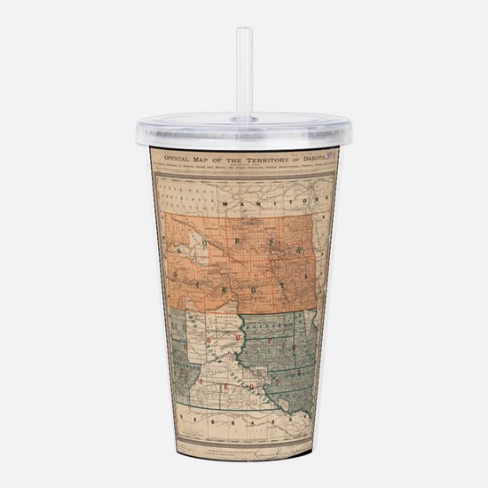 Vintage Map of North a Acrylic Double-wall Tumbler