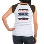 Who's the REAL Racist? Women's Cap Sleeve T-Shirt