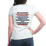 Who's the REAL Racist? Jr. Ringer T-Shirt