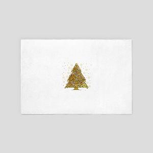 Metal Art Holiday Tree 2 4' x 6' Rug